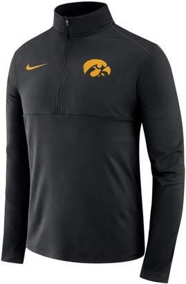 Nike Men's Iowa Hawkeyes Element 1/2-Zip Pullover Top