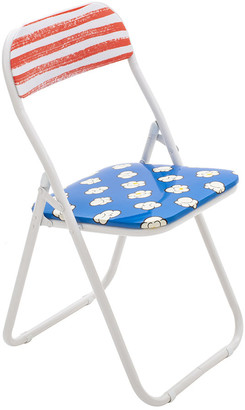 Seletti 'Blow' Folding Chair - Metal - Popcorn