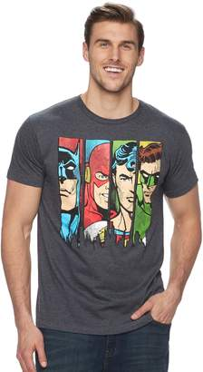 Big & Tall Justice League Faces Tee