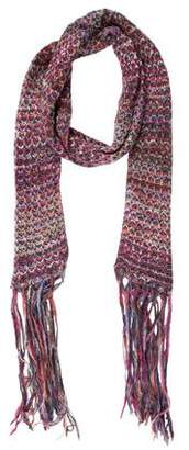 Missoni Pink Knitted Scarf