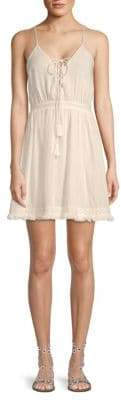 The Jetset Diaries Lace-Up Cotton Dress