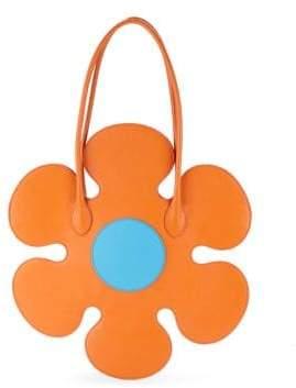 Moschino Flower Leather Shoulder Bag