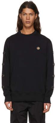 Versus Black Eyelet Sweatshirt
