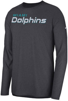 Nike Men Miami Dolphins Player Long Sleeve Top