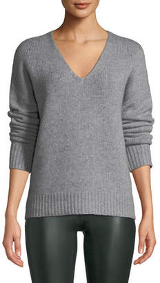Theory Relaxed V-Neck Cashmere Pullover Sweater