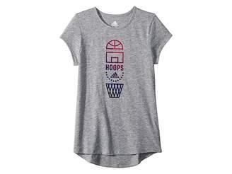 adidas Kids Short Sleeve Three Striped Life Tee (Big Kids)