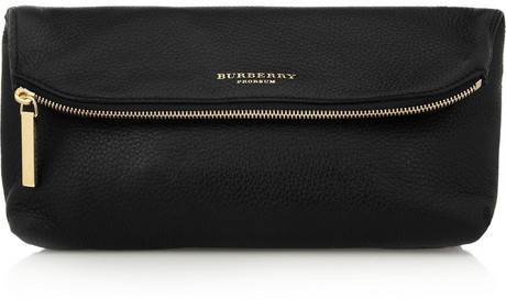 Burberry Textured-leather clutch