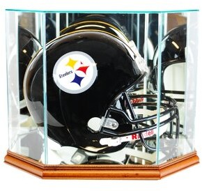 Perfect Cases and Frames Octagon Full Size Football Helmet Display Case Perfect Cases and Frames