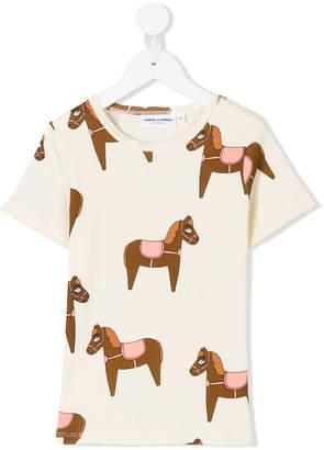 Mini Rodini horse print T-shirt