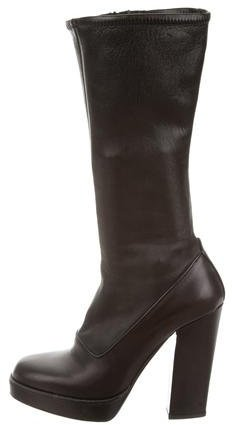 pradaPrada Platform Mid-Calf Boots