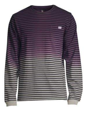 PRPS Multicolor Faded Stripe Long Sleeve Tee