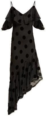 Maria Lucia Hohan Raine Polka Dot Asymmetric Dress - Womens - Black