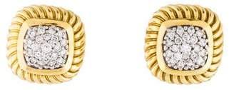 David Yurman 18K Diamond Albion Earrings