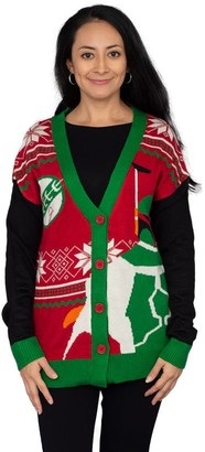 Junk Food Clothing Star Wars Boba Fett Ugly Christmas Cardigan Sweater