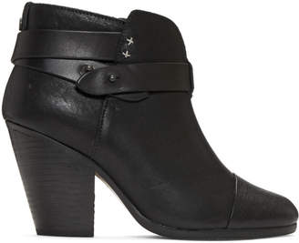 Rag & Bone Black Harrow Boots