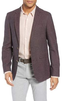 Sand Trim Fit Check Wool Blend Sport Coat