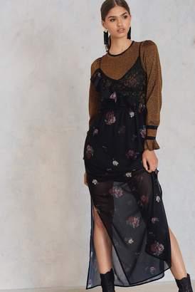Na Kd Party Asymmetric Frill Lace Dress Black