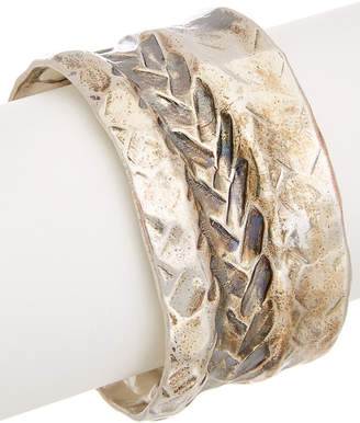 Robert Lee Morris Collection Plated Textured Braided Cuff
