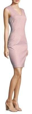Peserico Polka Dot V-Neck Sheath Dress