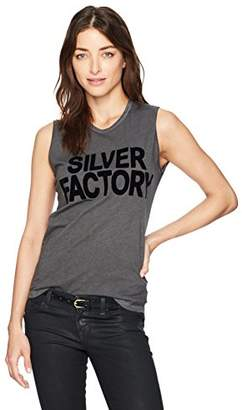 Freecity Women's Silver Factory Studded Tank