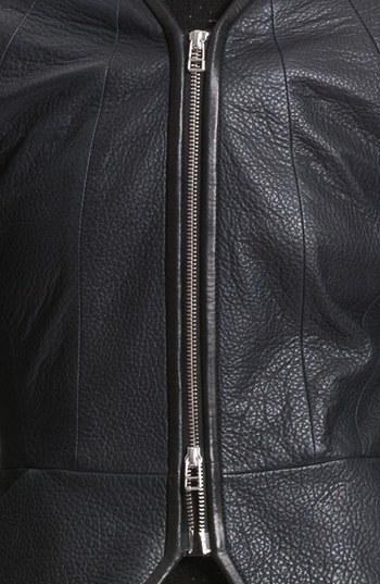 Faith Connexion Zip Front Leather Jacket