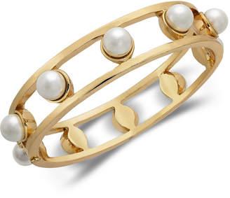 Alfani Gold-Tone Imitation Pearl Openwork Bangle Bracelet