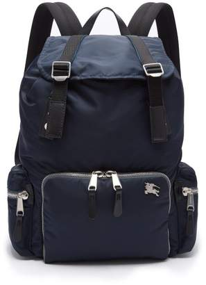 Burberry Aviator Nylon Backpack - Mens - Blue
