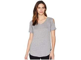 Mod-o-doc Linen Jersey Cold Shoulder Raglan Tee Women's T Shirt