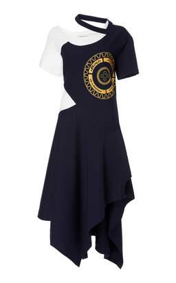 Monse Striped Jersey Deconstructed Tee Dress