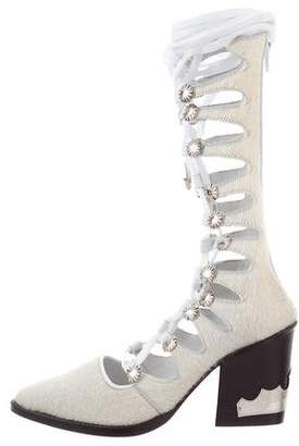 Toga Pulla Ponyhair Gladiator Boots w/ Tags