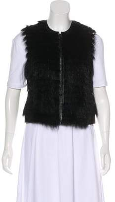 Theory Tiered Fur Vest