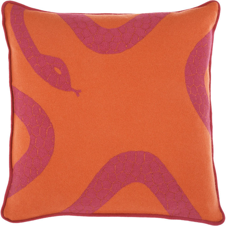 Armand Diradourian Snake Pillow - Orange