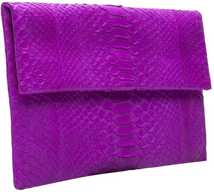 Primary Snakeskin clutch bag