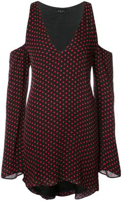 Amiri cold-shoulder polka-dot dress