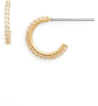 Women's Nadri Small Cubic Zirconia Hoop Earrings $35 thestylecure.com