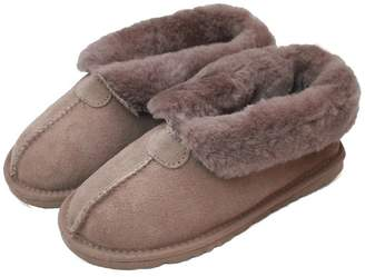 Eastern Counties Leather Womens/Ladies Sheepskin Lined Split Seam Slipper Boots (8 US)