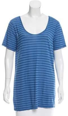 Clu Striped Scoop Neck T-Shirt