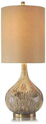 John-Richard Collection Drip Glaze Squattie Table Lamp - Brass