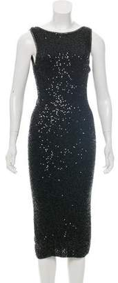 Donna Karan Embellished Cashmere & Silk Dress