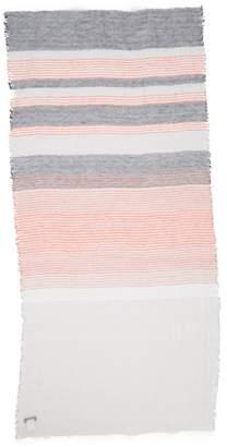 Yohji Yamamoto Y's by Washer Border Linen & Silk Stole