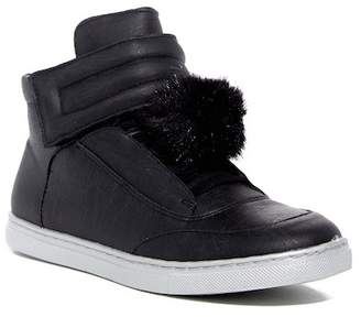Dolce Vita Zeta Faux Fur Pompom Hi Top Sneaker (Little Kid & Big Kid)