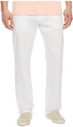 Perry Ellis Linen Cotton Drawstring Pants Men's Clothing