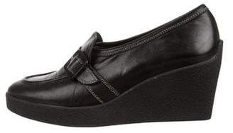 Rob-ert Robert Clergerie Leather Wedge Loafers