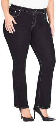 City Chic Regular Fit Bootcut Jeans