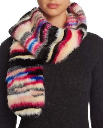 Cara New York Multicolor Faux Fur Scarf - 100% Exclusive