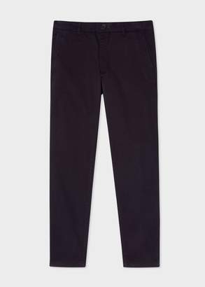 Paul Smith Men's Mid-Fit Dark Navy Stretch-Cotton Chinos