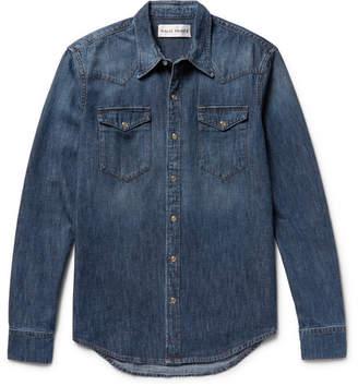 Privee SALLE Rohe Slim-Fit Denim Western Shirt