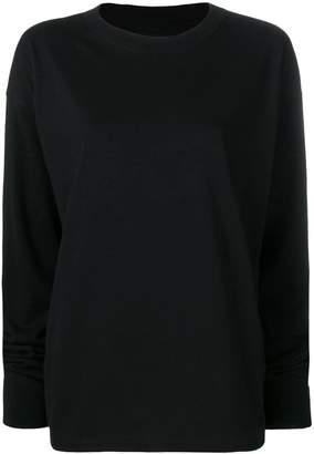 MM6 MAISON MARGIELA MM6 back print knitted sweatshirt
