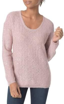 NYDJ Sequin Scoop Neck Sweater