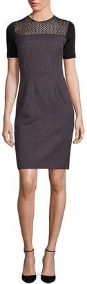 Elie Tahari Women's Josephine Geometric Lace Yoke Sheath Dress